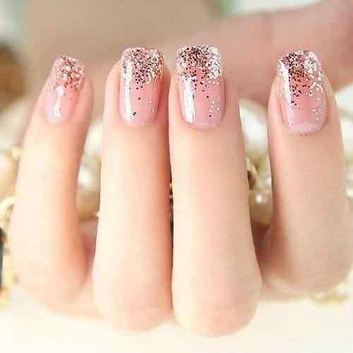 Pink nails unas color rosa (87)