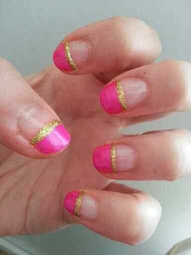Pink nails unas color rosa (88)