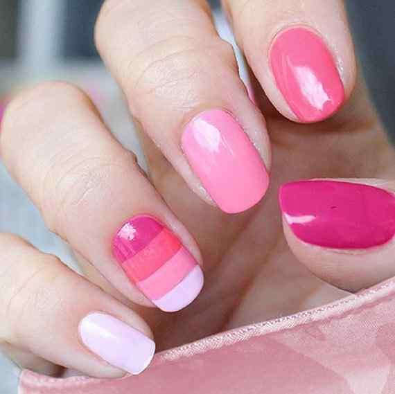Pink nails unas color rosa (91)