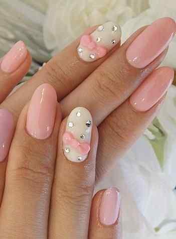 Pink nails unas color rosa (92)