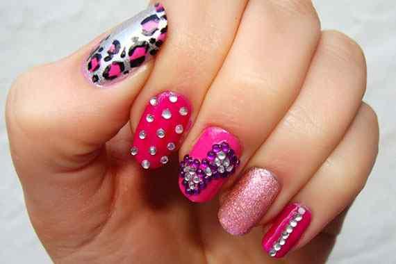 Pink nails unas color rosa (93)