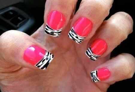 Pink nails unas color rosa (99)
