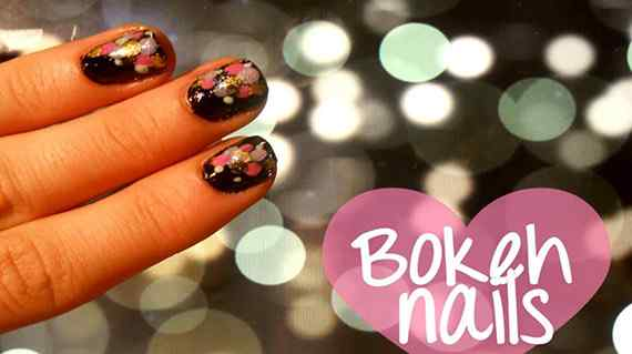bokeh nails unas
