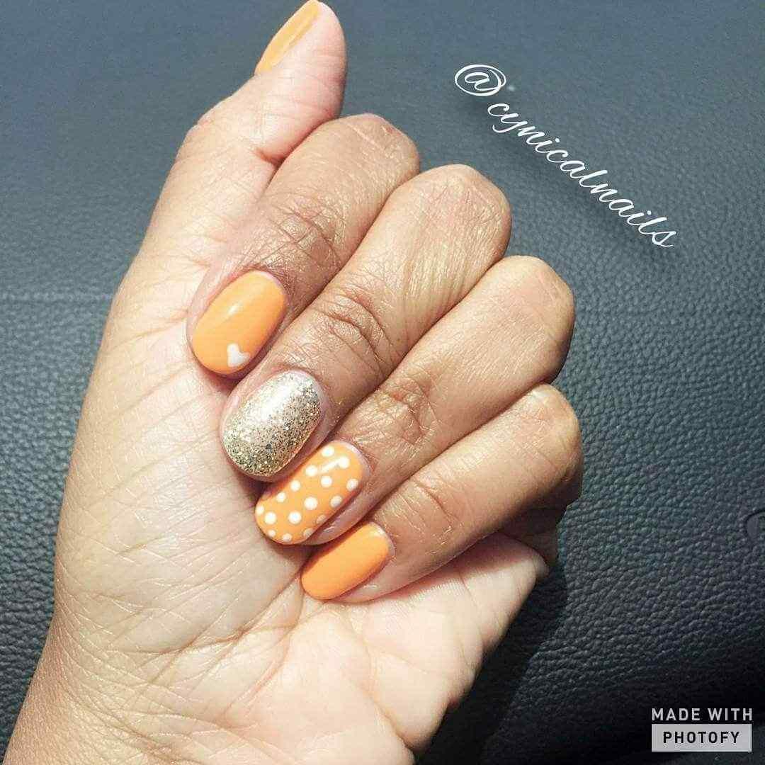 uñas decoradas naranja (5)
