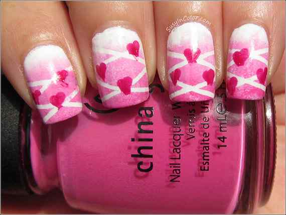 Pink nails unas color rosa (102)