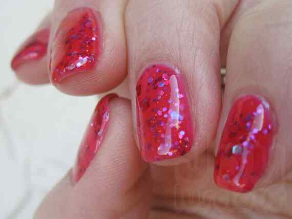Pink nails unas color rosa (105)