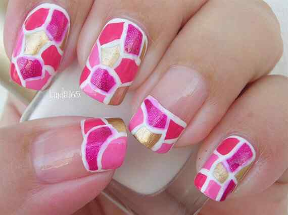 Pink nails unas color rosa (107)