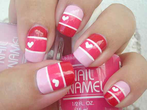 Pink nails unas color rosa (108)