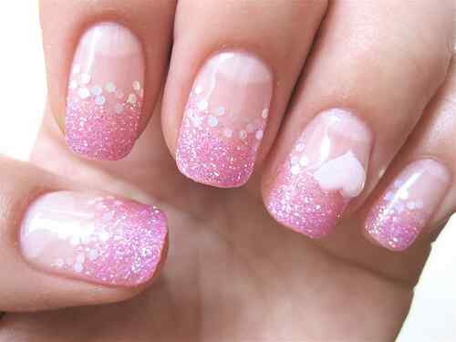 Pink nails unas color rosa (109)