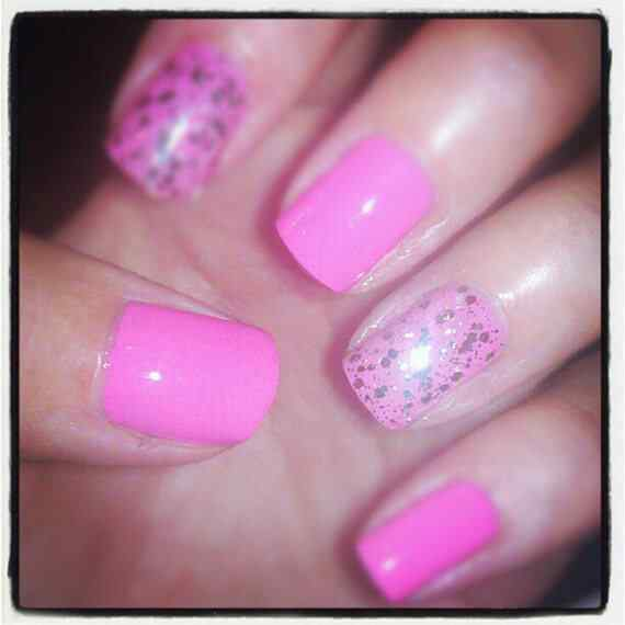 Pink nails unas color rosa (110)