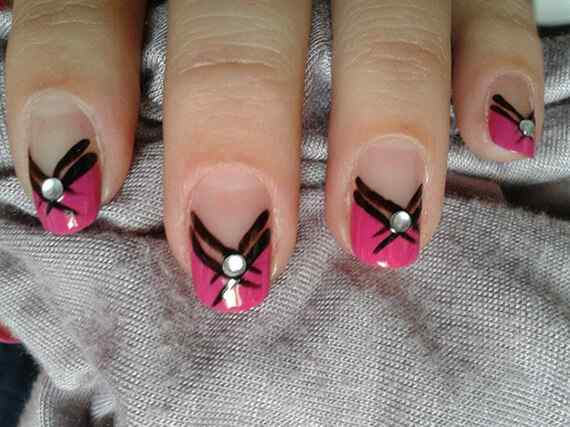 Pink nails unas color rosa (114)
