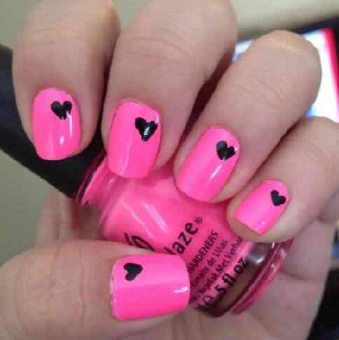 Pink nails unas color rosa (115)