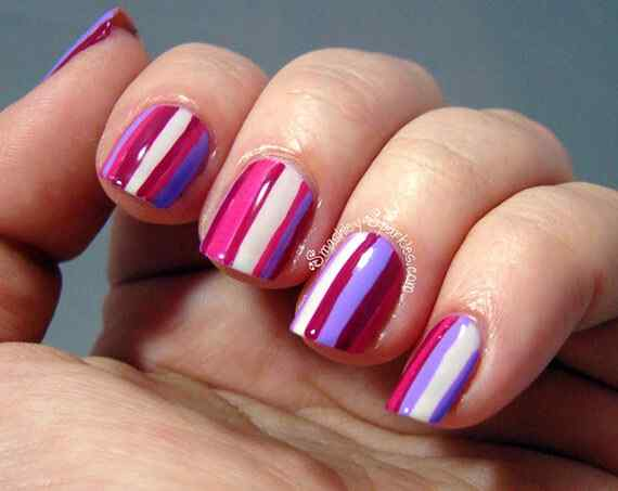 Pink nails unas color rosa (118)