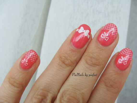 Pink nails unas color rosa (121)