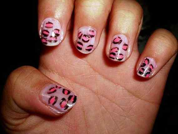 Pink nails unas color rosa (124)