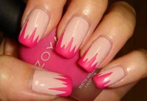 Pink nails unas color rosa (125)