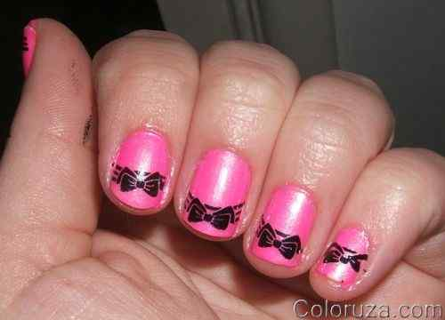 Pink nails unas color rosa (126)