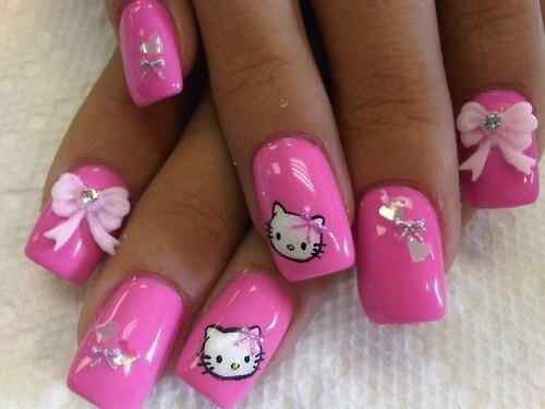 Pink nails unas color rosa (129)