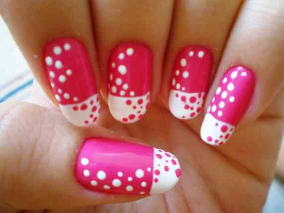 Pink nails unas color rosa (131)