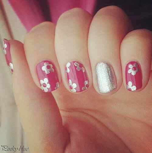 Pink nails unas color rosa (133)