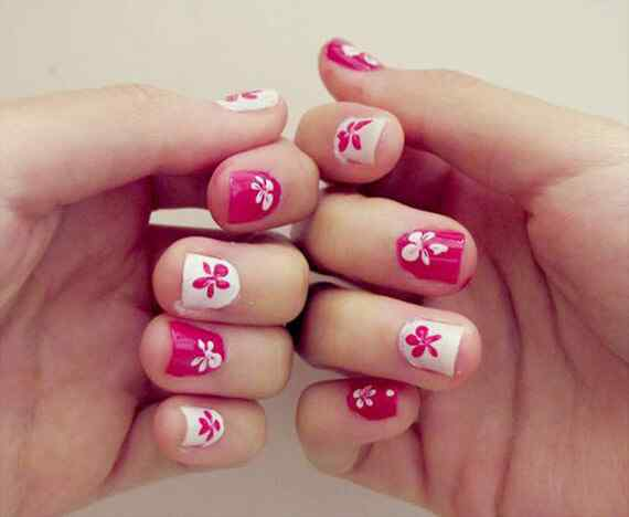Pink nails unas color rosa (134)