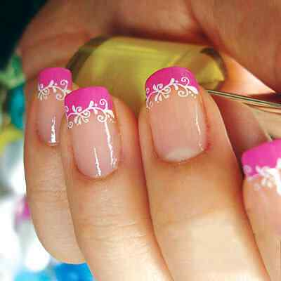 Pink nails unas color rosa (136)