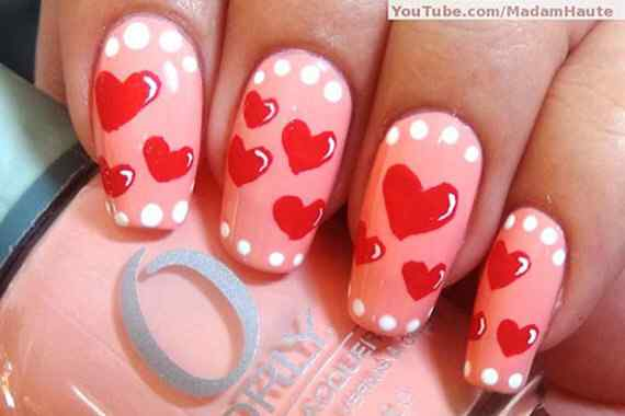 Pink nails unas color rosa (141)
