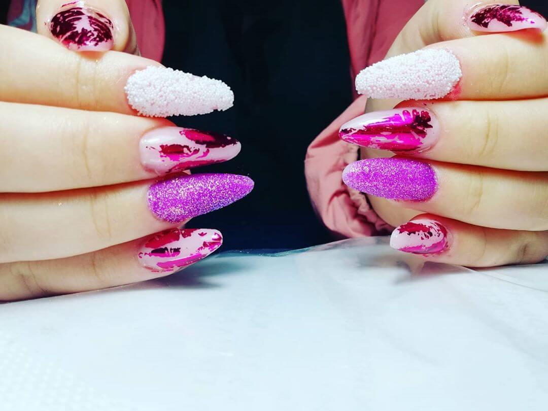 diseños de uñas caviar