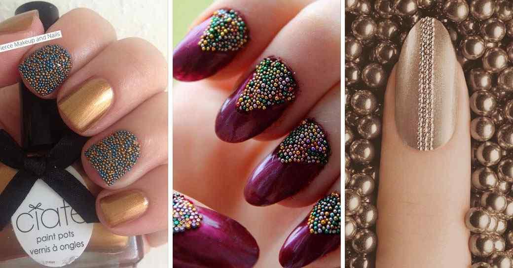 Uñas caviar o con perlitas - +70 diseños, tutoriales y productos 1