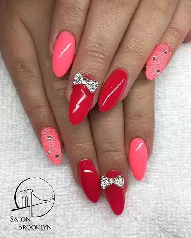 uñas caviar rosa