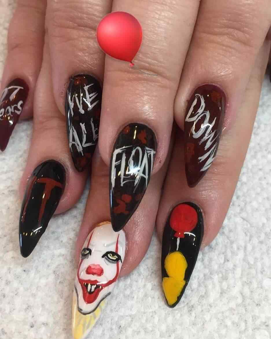 uñas payaso it eso