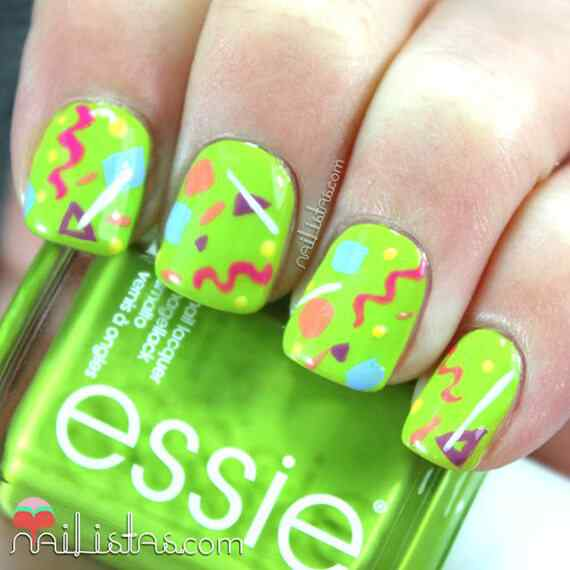 Green nails photos (20)