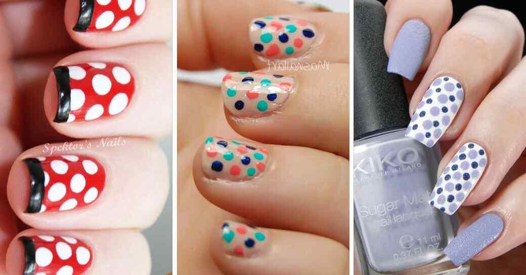 50 Diseños de uñas con lunares o puntos