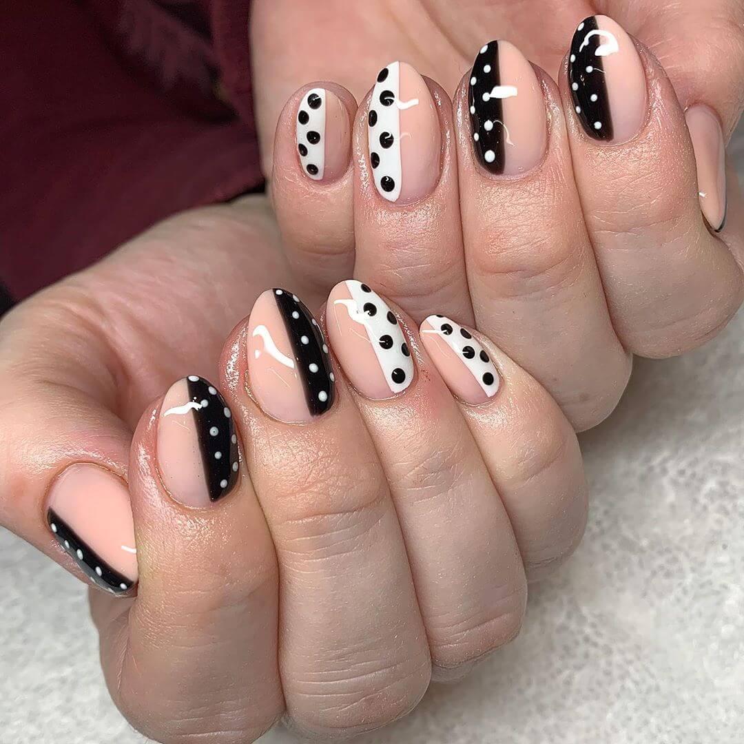 diseño facil para uñas con puntos