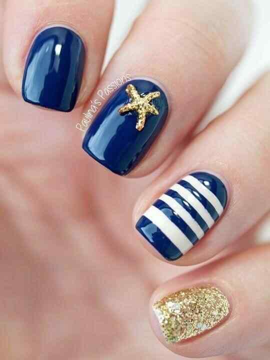 uñas azules nautico