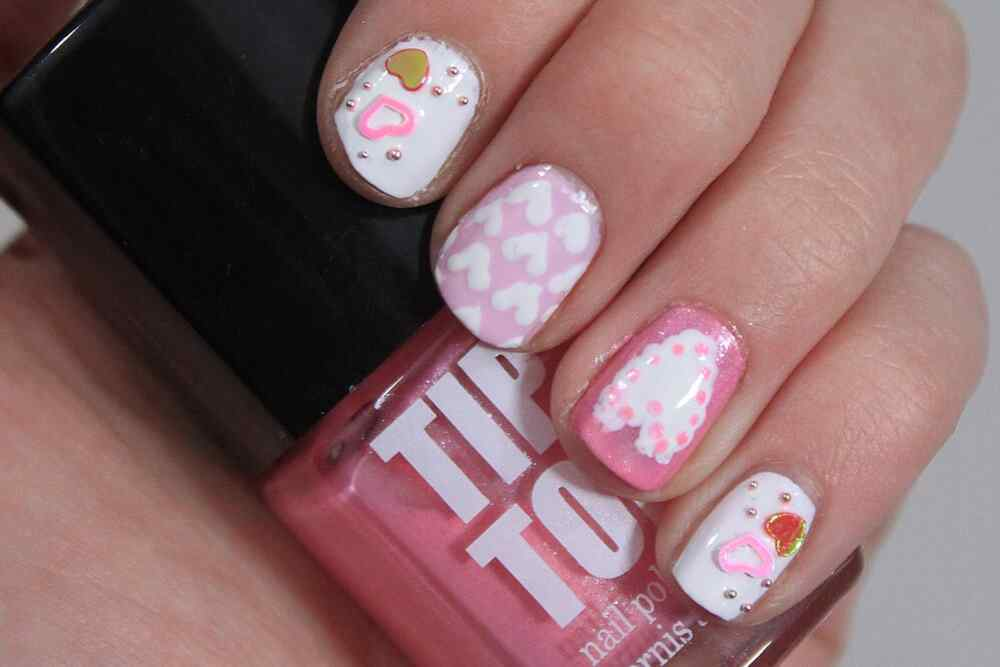 Love Nails Valentin Day nails (7)
