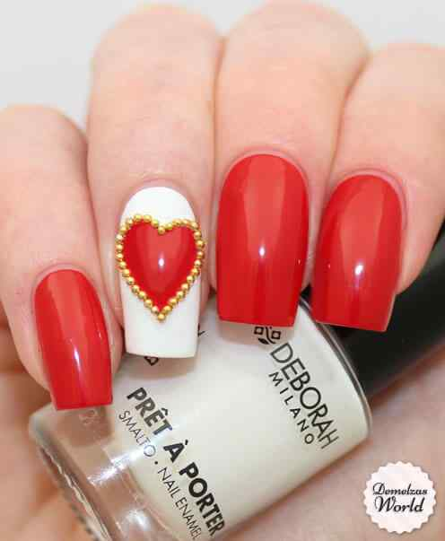 Unas de amor love nails (10)