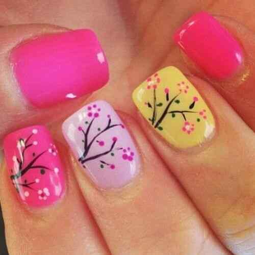 decorar unas con flores (6)