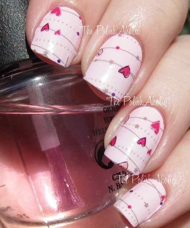 love nails valentin day (12)