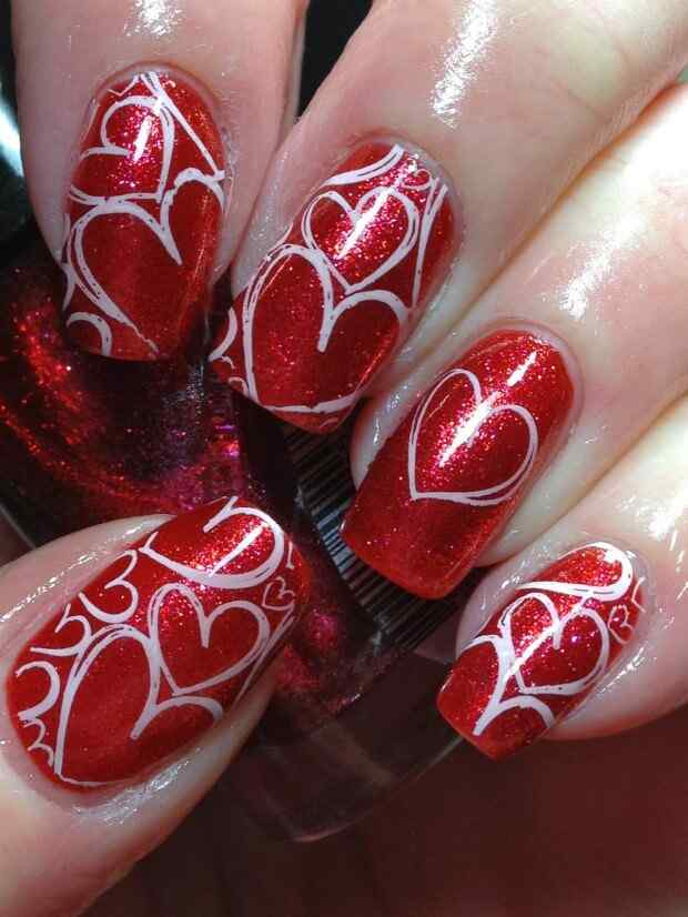 love nails valentin day (6)