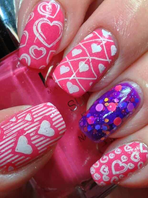 love nails valentin day (7)