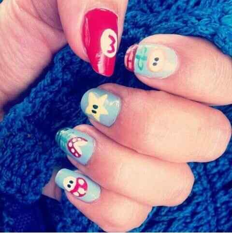 mario bross nails (1)
