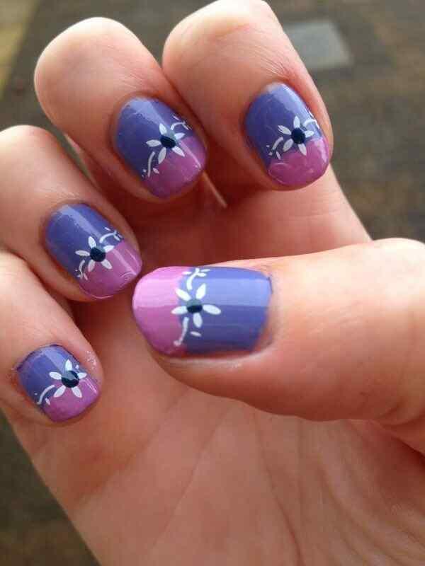 pintar unas con flores (14)