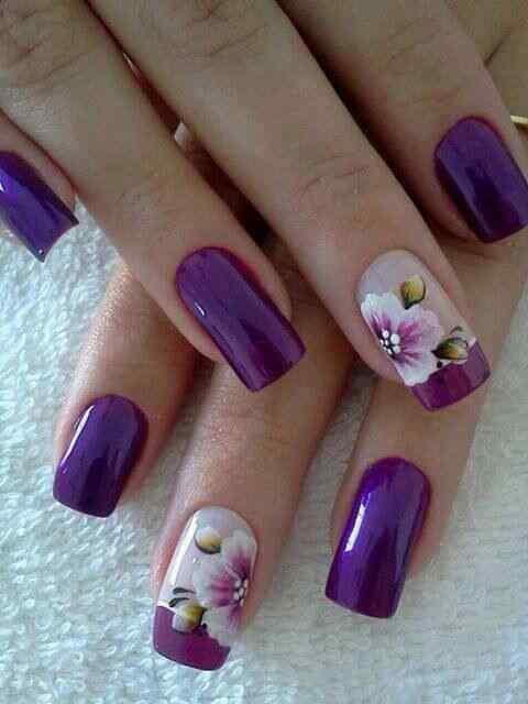 pintar unas con flores (16)