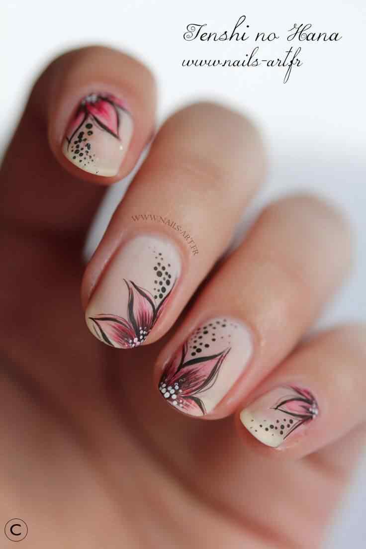 pintar unas con flores (6)