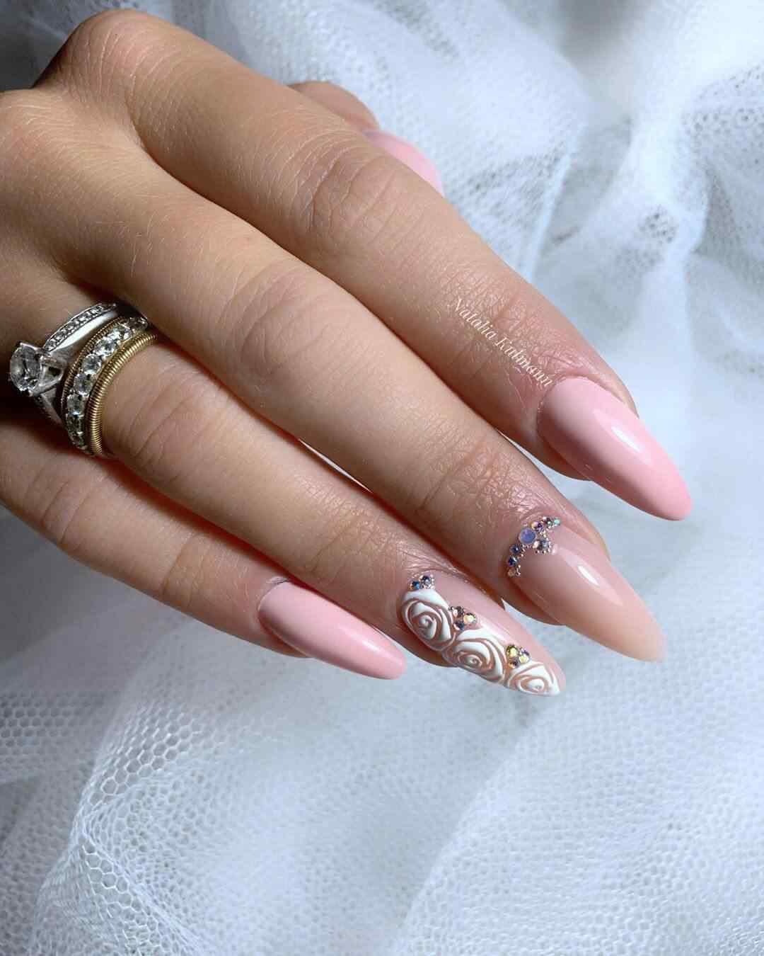 uñas acrilicas para novia