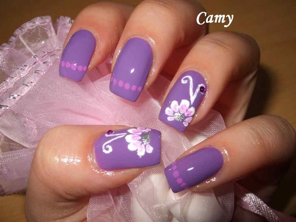 U as violetas 100 dise os espectaculares for Decoracion de unas cafes