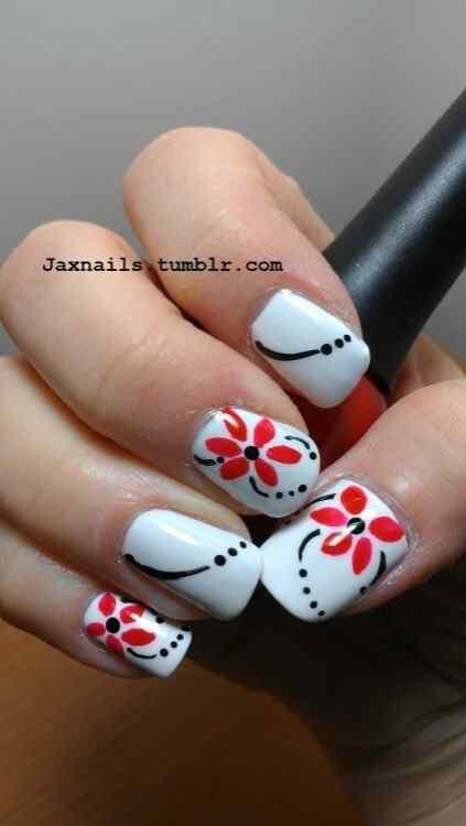 unas con flores (2)