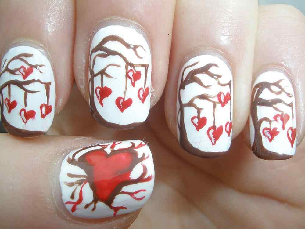 Uñas de San Valentín mas de 70 diseños espectaculares 17