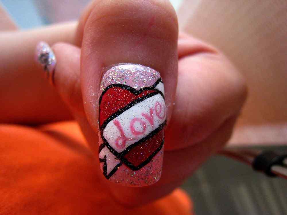 Uñas de San Valentín mas de 70 diseños espectaculares 26
